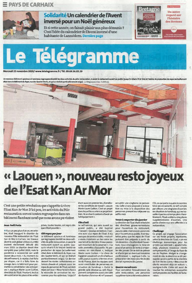 «Laouen», nouveau resto joyeux de l'Est Kan Ar Mor