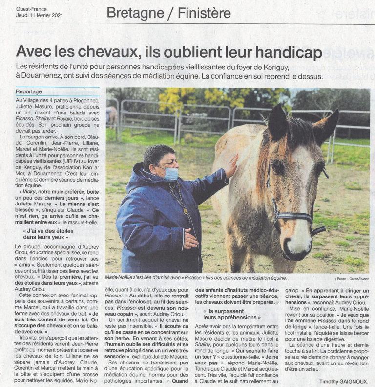 Avec les chevaux, ils oublient leur handicap